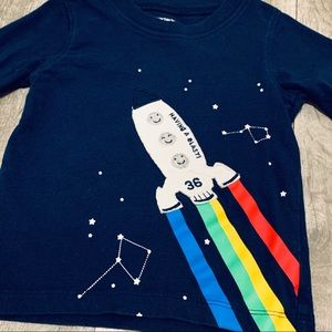 Long Sleeve Space Shirt 18m